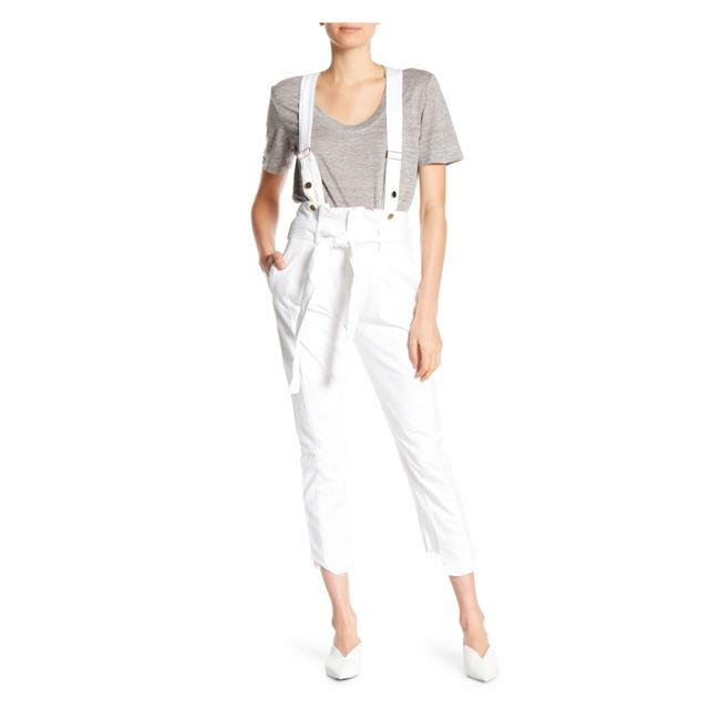 Item - Blanc Mix Coated Solid Waist Tie Overalls Skinny Jeans Size 00 (XXS, 24)