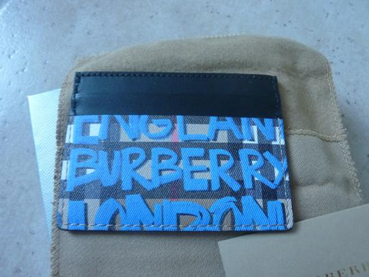 Burberry Burberry Graffiti Print Vintage Check Leather Card Case Image 3