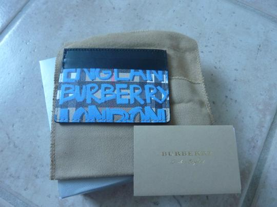 Burberry Burberry Graffiti Print Vintage Check Leather Card Case Image 5