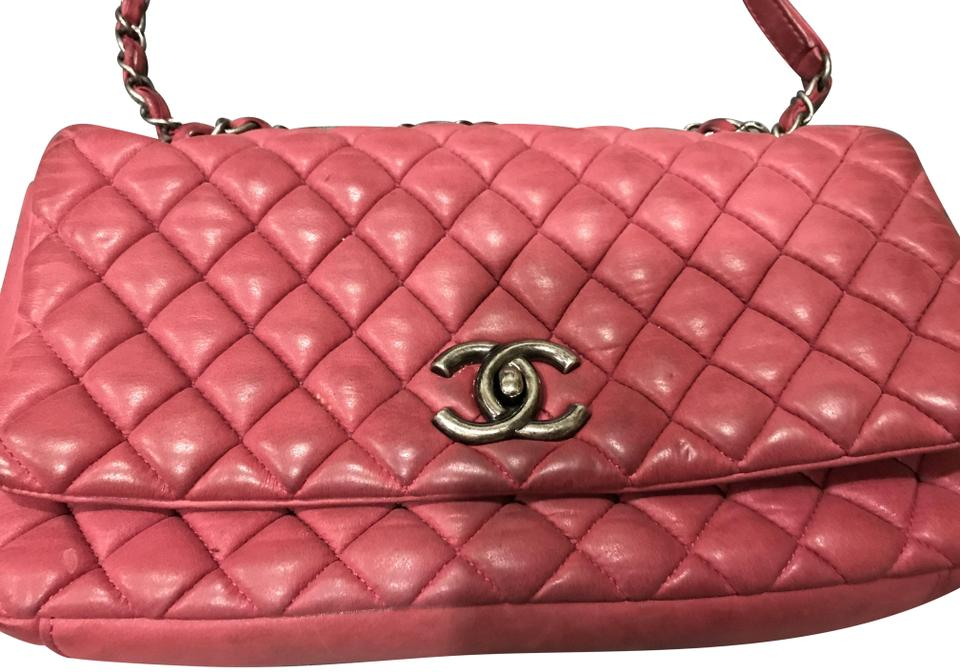 a9fc3d155582 Chanel Classic Flap Quilted Iridescent Large New Bubble Red Leather  Shoulder Bag