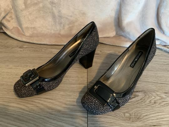 Bandolino Fabric Brown Speckled Pumps Image 5