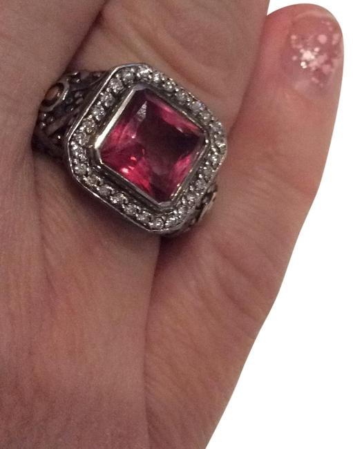 Item - Pink Classic Sterling and 18k Cushion Ring