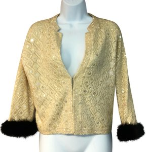 Bruno Furs Knit Top Beige