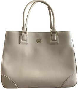 Tory Burch Leather Saffiano Tote in Light Pink