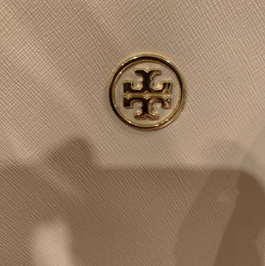 Tory Burch Leather Saffiano Tote in Light Pink Image 8