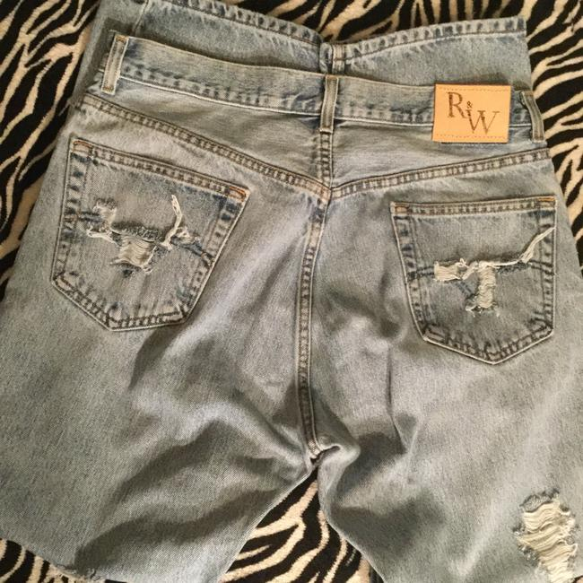 Roots & Wings Vintage Denim Distressed Refashioned Straight Leg Jeans-Distressed Image 1