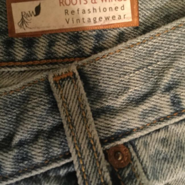 Roots & Wings Vintage Denim Distressed Refashioned Straight Leg Jeans-Distressed Image 7
