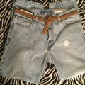 Roots & Wings Vintage Denim Distressed Refashioned Straight Leg Jeans-Distressed Image 8