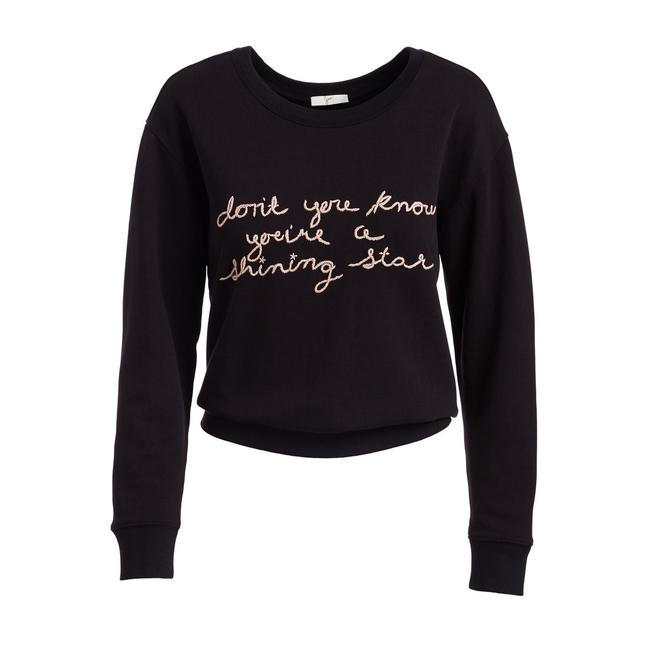 Preload https://img-static.tradesy.com/item/24622211/joie-blackpink-rikke-b-crewneck-cotton-pullover-sweater-sweatshirthoodie-size-4-s-0-2-650-650.jpg
