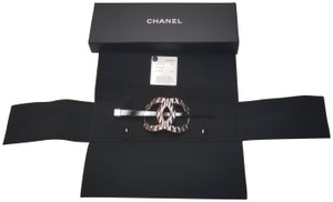 Chanel Chanel Runaway Quilted Silver Black Hair Pin
