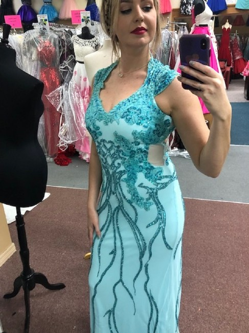 Mac Duggal Couture Prom Pageant Homecoming Dress Image 3