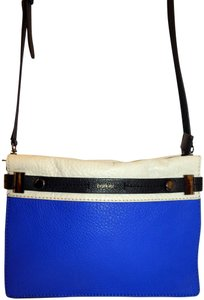 Botkier Tri Color Leather Clutch Cross Body Bag