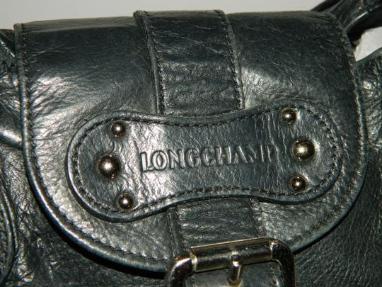 Longchamp Leather Satchel in Black Image 1