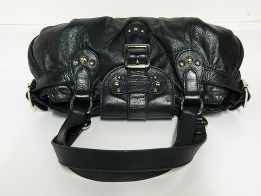 Longchamp Leather Satchel in Black Image 6
