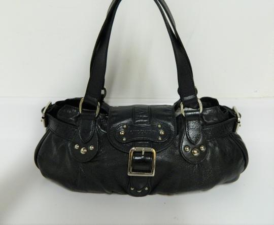 Longchamp Leather Satchel in Black Image 8