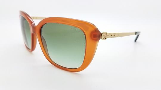 Coach New Coach sunglasses HC8229 55028E 55mm Amber Gold Gradient brown 8229 Image 2