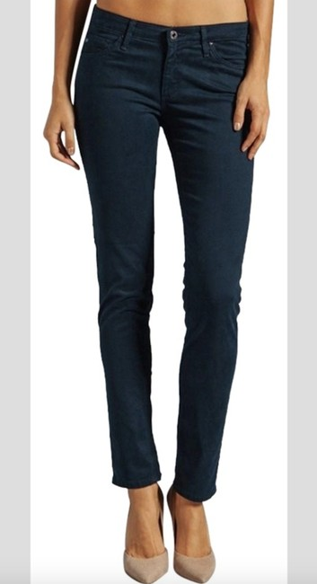 AG Adriano Goldschmied Stretchy Teal Straight Leg Jeans Image 2