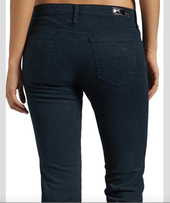 AG Adriano Goldschmied Stretchy Teal Straight Leg Jeans Image 3