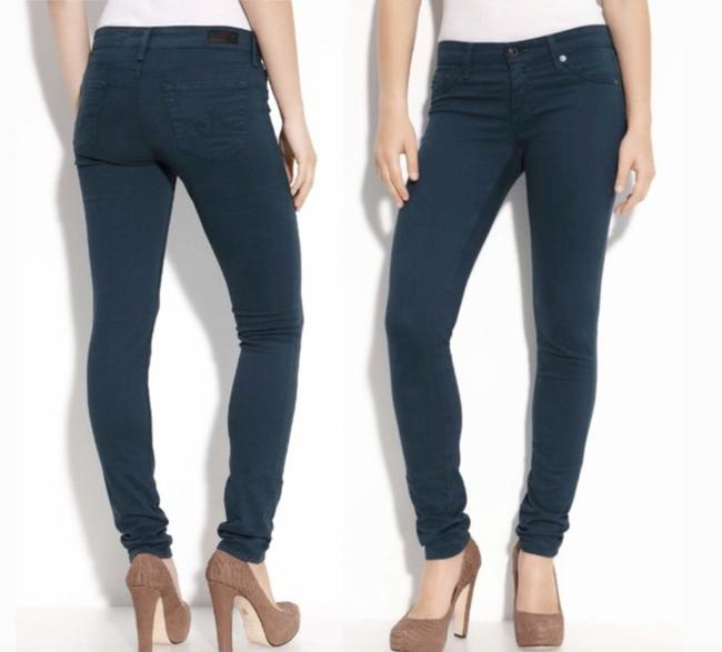 AG Adriano Goldschmied Stretchy Teal Straight Leg Jeans Image 4