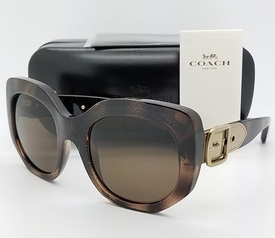 c7c7ea5e758d3 ... clearance coach new coach sunglasses hc8228 550073 53mm tortoise brown  gold buckle gen b7e2c 0f616 ...