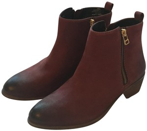 Steven by Steve Madden Leather Ankle Ombre Wine Boots