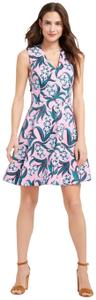 Draper James short dress Pink/Green on Tradesy