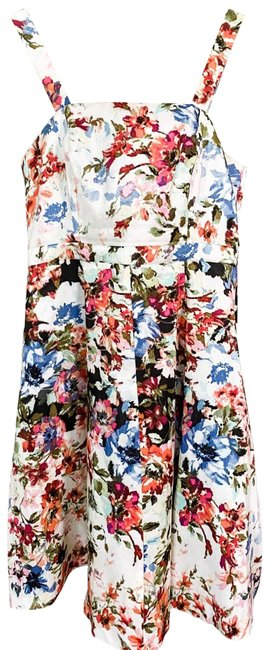 Gabby Skye Floral Fit and Flare Sundress with Removable Shell Short Casual Dress Size 6 (S) Gabby Skye Floral Fit and Flare Sundress with Removable Shell Short Casual Dress Size 6 (S) Image 1
