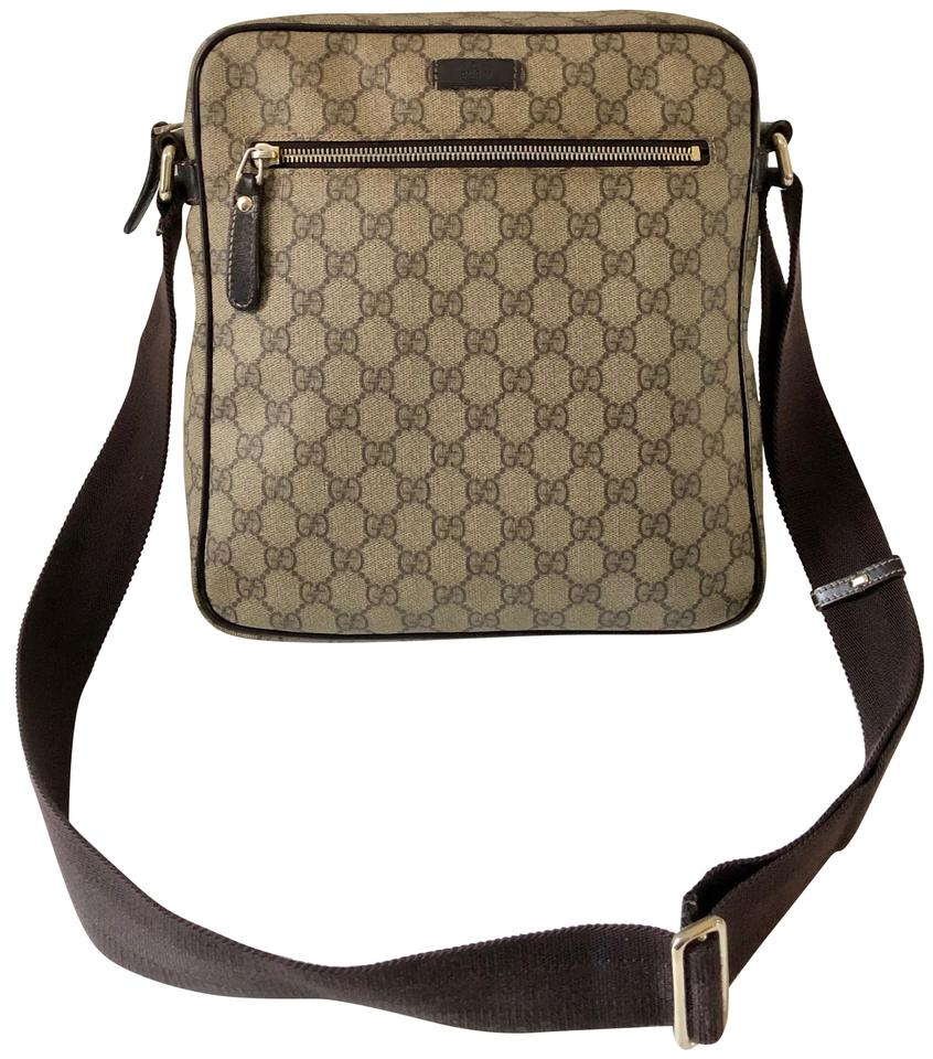 9d7510dd35 Gucci Gg Brown Supreme Canvas   Leather Messenger Bag - Tradesy