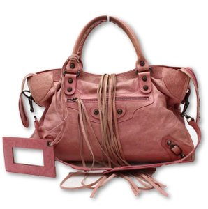 Balenciaga Satchel in pink/red/framboise