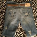 Roots & Wings Vintage Denim Refashioned Distressed Christian Boot Cut Jeans-Distressed Image 10