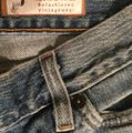 Roots & Wings Vintage Denim Refashioned Distressed Christian Boot Cut Jeans-Distressed Image 5
