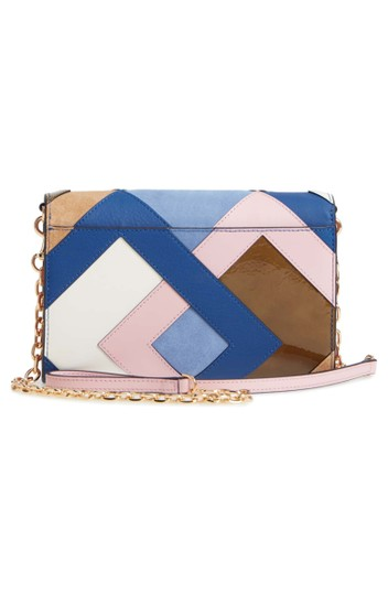 Tory Burch Robinson Colorblock Leather Wallet on a Chain Image 2