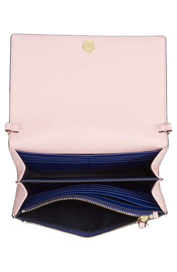 Tory Burch Robinson Colorblock Leather Wallet on a Chain Image 3