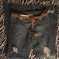 Roots & Wings Vintage Distressed Denim Refashioned Christian Boot Cut Jeans-Distressed Image 9