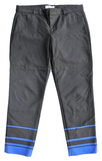 Gap Capri/Cropped Pants Black with Blue Image 0