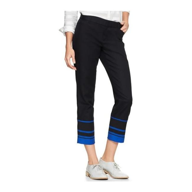 Gap Capri/Cropped Pants Black with Blue Image 1