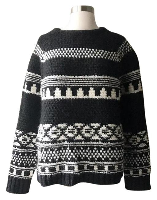 Preload https://img-static.tradesy.com/item/24622969/zara-alpaca-blend-fair-isle-black-and-white-sweater-0-1-650-650.jpg