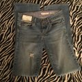 Roots & Wings Vintage Denim Refashioned Distressed Christian Boot Cut Jeans-Distressed Image 4