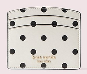 Kate Spade polka dot card holder