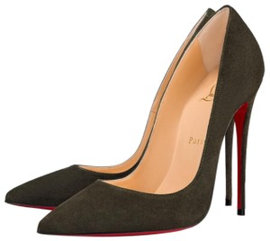 d6f579112981 Christian Louboutin Green So Kate Tyrol Olive Suede Stiletto Pumps ...