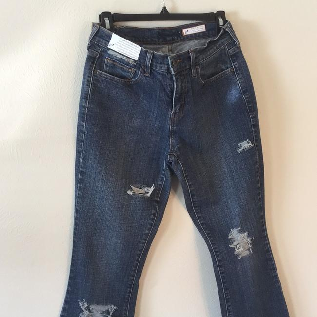 Roots & Wings Vintage Denim Refashioned Distressed Christian Boot Cut Jeans-Distressed Image 1