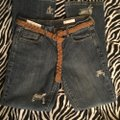 Roots & Wings Vintage Denim Refashioned Distressed Christian Boot Cut Jeans-Distressed Image 8