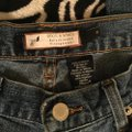Roots & Wings Vintage Distressed Denim Refashioned Christian Boot Cut Jeans-Distressed Image 5
