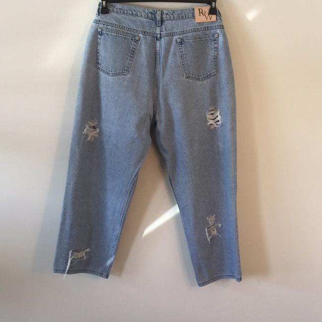 Roots & Wings Vintage Denim Refashioned One Of A Kind Christian Straight Leg Jeans-Distressed Image 1