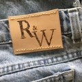 Roots & Wings Vintage Denim Refashioned One Of A Kind Christian Straight Leg Jeans-Distressed Image 4