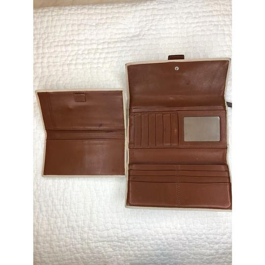 Coach Trifold Leather Wallet with Checkbook Register and Belt Image 1