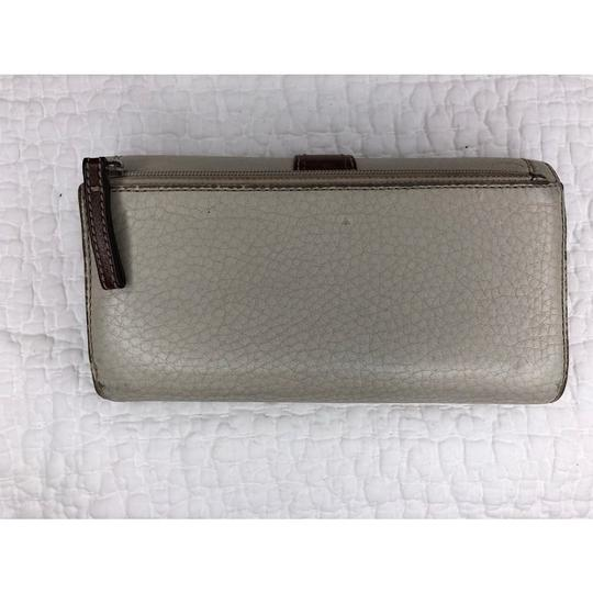 Coach Trifold Leather Wallet with Checkbook Register and Belt Image 2