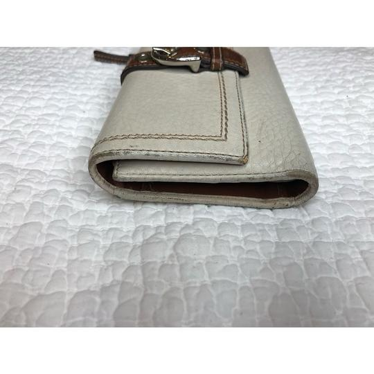 Coach Trifold Leather Wallet with Checkbook Register and Belt Image 3