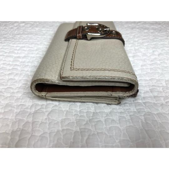 Coach Trifold Leather Wallet with Checkbook Register and Belt Image 4