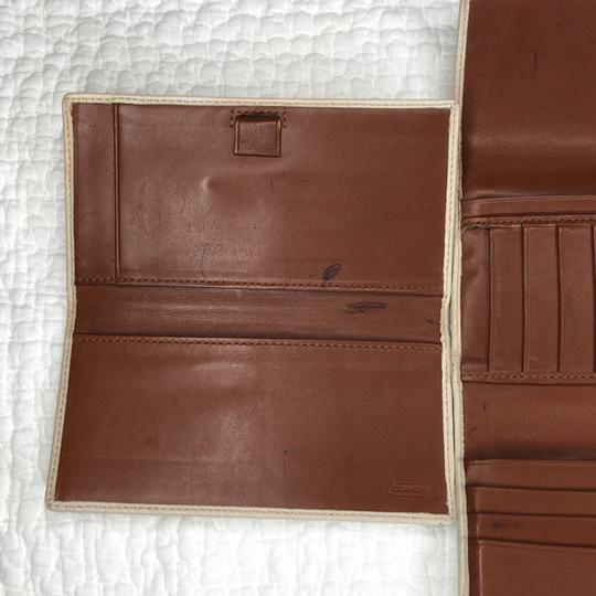 Coach Trifold Leather Wallet with Checkbook Register and Belt Image 5